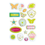 Making Memories - Just Chillin Girl Collection - Layered Chipboard Stickers
