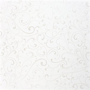 Making Memories - I Do Collection - 12 x 12 Pearl Paper - Swirl