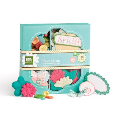 Making Memories - Flower Patch Collection - Embellishment Box, CLEARANCE