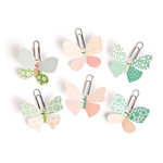 Making Memories - Flower Patch Collection - Butterfly Clips, CLEARANCE