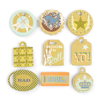 Making Memories - Just Chillin Boy Collection - Chipboard Tags