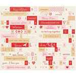 Making Memories - Love Notes Collection - Title Alphabet Stickers, CLEARANCE