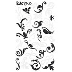 Making Memories - Shimmer Flourish Stickers - Black and White, CLEARANCE