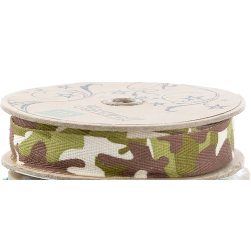 Making Memories - Just Chillin Collection - Bulk Ribbon - Camo , BRAND NEW