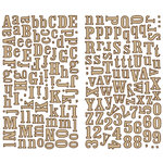 Making Memories - Great Escape Collection - Cork Alphabet Stickers, CLEARANCE