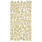 Making Memories - Shimmer Alphabet Stickers - Diva Font - Gold, CLEARANCE