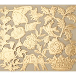 Making Memories - Vintage Findings Collection - Metallic Embossed Ephemera - Gold