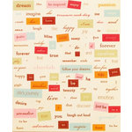Making Memories - Vintage Findings Collection - Stickers - Word Fetti - Expressions