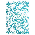 Making Memories - Shimmer Chipboard Flourishes - Blue, CLEARANCE