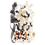Making Memories - Spook Alley Collection - Halloween - Trims and Treats Embellishment Kit, CLEARANCE