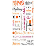 Making Memories - Spook Alley Collection - Halloween - Rub Ons - Words, CLEARANCE