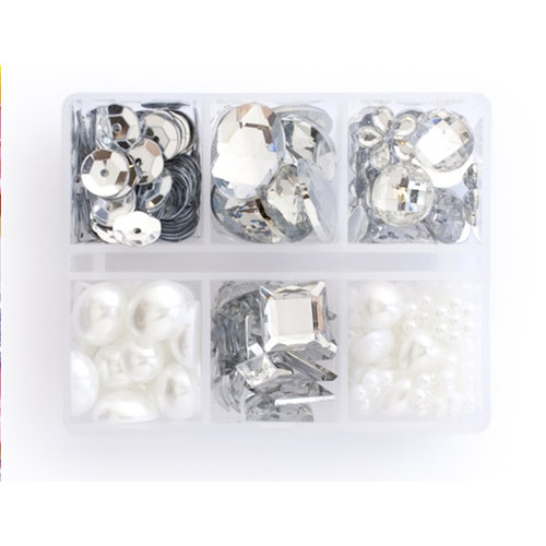Making Memories - Gem Collection Box - Clear and Pearl, CLEARANCE