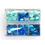 Making Memories - Gem Collection Box - Blue, CLEARANCE