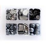 Making Memories - Gem Collection Box - Black, CLEARANCE