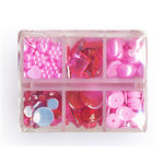 Making Memories - Gem Collection Box - Pink, CLEARANCE