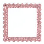 Making Memories - Glitter Bling Collection - Self Adhesive Square Frame - Pink , BRAND NEW
