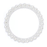 Making Memories - Glitter Bling Collection - Self Adhesive Round Frame - Silver