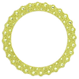 Making Memories - Glitter Bling Collection - Self Adhesive Round Frame - Green, CLEARANCE