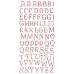 Making Memories - Glitter Bling Collection - Jeweled Alphabet Stickers - Pink, CLEARANCE