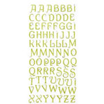 Making Memories - Glitter Bling Collection - Jeweled Alphabet Stickers - Green, CLEARANCE