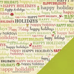 Making Memories - Mistletoe Collection - Christmas - 12 x 12 Double Sided Paper - Happy Holidays , BRAND NEW