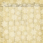Making Memories - Mistletoe Collection - Christmas - 12 x 12 Flocked Paper - Snowflake , CLEARANCE
