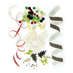 Making Memories - Mistletoe Collection - Christmas - Trims and Treats Embellishment Kit, CLEARANCE