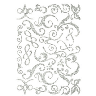Making Memories - Shimmer Chipboard Flourishes - Silver, CLEARANCE
