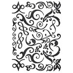 Making Memories - Shimmer Chipboard Flourishes - Black