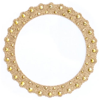 Making Memories - Glitter Bling Collection - Self Adhesive Round Frame - Gold , BRAND NEW