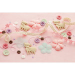 Making Memories - Pitter Patter Collection - Trims and Treats Embellishment Pack - Sophie, CLEARANCE