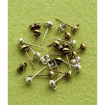 Making Memories - Vintage Groove Collection - Jewelry Hardware - Post Earrings