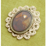 Making Memories - Vintage Groove Collection - Jewelry Pendant - Victorian Cameo