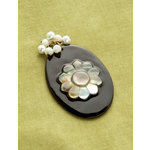 Making Memories - Vintage Groove Collection - Jewelry Pendant - Black Oval