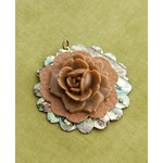 Making Memories - Vintage Groove Collection - Jewelry Pendant - Abalone and Rose