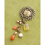 Making Memories - Vintage Groove Collection - Jewelry Pendant - Ephemera Bead Drop