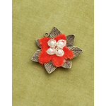 Making Memories - Vintage Groove Collection - Jewelry Pendant - Velvet Flower