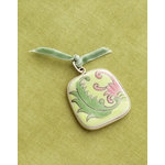 Making Memories - Vintage Groove Collection - Jewelry Pendant - Ceramic Floral