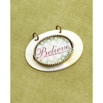Making Memories - Vintage Groove Collection - Jewelry Pendant - Believe