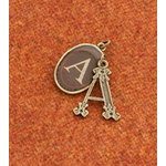 Making Memories - Vintage Groove Collection - Jewelry Alphabet Charms - Letter A