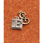 Making Memories - Vintage Groove Collection - Jewelry Alphabet Charms - Letter E