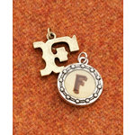 Making Memories - Vintage Groove Collection - Jewelry Alphabet Charms - Letter F