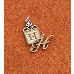 Making Memories - Vintage Groove Collection - Jewelry Alphabet Charms - Letter H