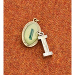 Making Memories - Vintage Groove Collection - Jewelry Alphabet Charms - Letter I