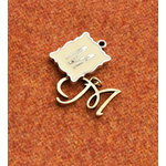 Making Memories - Vintage Groove Collection - Jewelry Alphabet Charms - Letter M