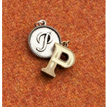 Making Memories - Vintage Groove Collection - Jewelry Alphabet Charms - Letter P