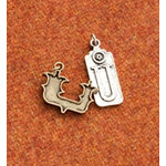Making Memories - Vintage Groove Collection - Jewelry Alphabet Charms - Letter U