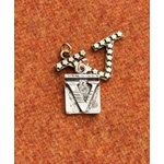 Making Memories - Vintage Groove Collection - Jewelry Alphabet Charms - Letter V