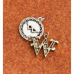 Making Memories - Vintage Groove Collection - Jewelry Alphabet Charms - Letter W