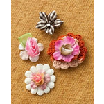 Making Memories - Vintage Groove Collection - Jewelry Designer Combinations - Woven Flowers
